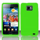 Soft Premium Silicone Case for Samsung Galaxy S II i777/i9100 (AT&T) - Neon Green