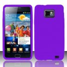 Soft Premium Silicone Case for Samsung Galaxy S II i777/i9100 (AT&T) - Purple