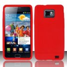 Soft Premium Silicone Case for Samsung Galaxy S II i777/i9100 (AT&T) - Red
