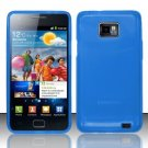 TPU Crystal Gel Case for Samsung Galaxy S II i777/i9100 (AT&T) - Blue