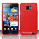 TPU Crystal Gel Case for Samsung Galaxy S II i777/i9100 (AT&T) - Red