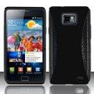 Hard Rubber Feel Hybrid Case for Samsung Galaxy S II i777/i9100 (AT&T) - Black