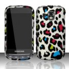 Hard Rubber Feel Design Case for Samsung Transform Ultra - Colorful Leopard