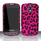 Hard Rubber Feel Design Case for Samsung Transform Ultra - Pink Leopard