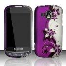 Hard Rubber Feel Design Case for Samsung Transform Ultra - Purple Vines