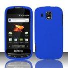 Hard Rubber Feel Plastic Case for Samsung Transform Ultra - Blue