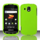 Hard Rubber Feel Plastic Case for Samsung Transform Ultra - Neon Green