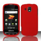 Hard Rubber Feel Plastic Case for Samsung Transform Ultra - Red