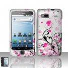 Hard Rubber Feel Design Case for HTC T-Mobile G2 - Pink Garden
