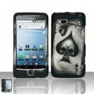 Hard Rubber Feel Design Case for HTC T-Mobile G2 - Spade Skull