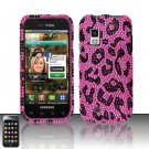 Hard Rhinestone Design Case for Samsung Fascinate - Pink Leopard