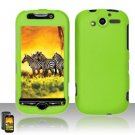 Hard Rubber Feel Plastic Case for HTC myTouch 4G (T-Mobile) - Neon Green