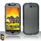 Hard Rubber Feel Design Case for HTC myTouch 4G (T-Mobile) - Carbon Fiber