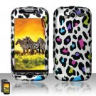 Hard Rubber Feel Design Case for HTC myTouch 4G (T-Mobile) - Colorful Leopard