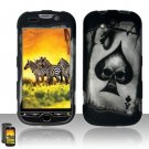 Hard Rubber Feel Design Case for HTC myTouch 4G (T-Mobile) - Spade Skull