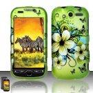 Hard Rubber Feel Design Case for HTC myTouch 4G (T-Mobile) - Hawaiian Flowers