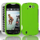 Hard Rubber Feel Plastic Case for HTC myTouch 4G Slide (T-Mobile) - Neon Green