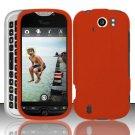 Hard Rubber Feel Plastic Case for HTC myTouch 4G Slide (T-Mobile) - Orange
