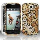 Hard Rhinestone Design Case for HTC myTouch 4G Slide (T-Mobile) - Cheetah