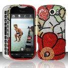 Hard Rhinestone Design Case for HTC myTouch 4G Slide (T-Mobile) - Fall Flowers