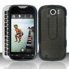 Hard Rubber Feel Design Case for HTC myTouch 4G Slide (T-Mobile) - Carbon Fiber
