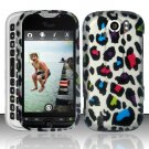 Hard Rubber Feel Design Case for HTC myTouch 4G Slide (T-Mobile) - Colorful Leopard