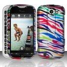 Hard Rubber Feel Design Case for HTC myTouch 4G Slide (T-Mobile) - Colorful Zebra