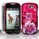 Hard Rubber Feel Design Case for HTC myTouch 4G Slide (T-Mobile) - Hibiscus Flowers