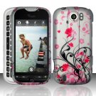 Hard Rubber Feel Design Case for HTC myTouch 4G Slide (T-Mobile) - Pink Garden