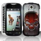 Hard Rubber Feel Design Case for HTC myTouch 4G Slide (T-Mobile) - Red Skull