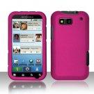 Hard Rubber Feel Plastic Case for Motorola Defy MB525 (T-Mobile) - Pink
