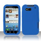 Soft Premium Silicone Case for Motorola Defy MB525 (T-Mobile) - Blue