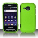Hard Rubber Feel Plastic Case for Samsung Galaxy Indulge R910 - Neon Green