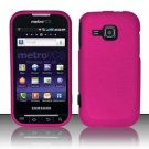 Hard Rubber Feel Plastic Case for Samsung Galaxy Indulge R910 - Pink