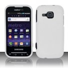 Hard Rubber Feel Plastic Case for Samsung Galaxy Indulge R910 - White