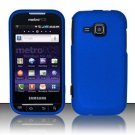 Hard Rubber Feel Plastic Case for Samsung Galaxy Indulge R910 - Blue