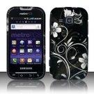 Hard Rubber Feel Design Case for Samsung Galaxy Indulge R910 - Midnight Garden