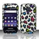 Hard Rubber Feel Design Case for Samsung Galaxy Indulge R910 - Colorful Leopard