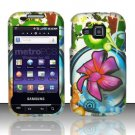 Hard Rubber Feel Design Case for Samsung Galaxy Indulge R910 - Paradise Flower