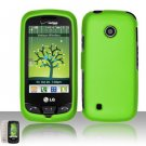 Hard Rubber Feel Plastic Case for LG Beacon/Attune (MetroPCS/U.S. Cellular) - Neon Green