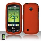 Hard Rubber Feel Plastic Case for LG Beacon/Attune (MetroPCS/U.S. Cellular) - Orange
