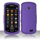 Hard Rubber Feel Plastic Case for Samsung Solstice II A817 - Purple