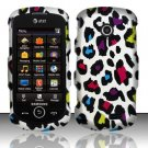 Hard Rubber Feel Design Case for Samsung Solstice II A817 - Colorful Leopard
