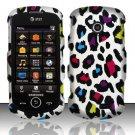 Hard Rubber Feel Design Case for Samsung Solstice II A817 - Colorful Leopard