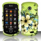 Hard Rubber Feel Design Case for Samsung Solstice II A817 - Hawaiian Flowers