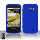 Hard Rubber Feel Plastic Case for Samsung Transform M920 - Blue