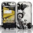 Hard Rubber Feel Design Case for Samsung Transform M920 - Black Vines