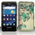 Hard Rubber Feel Design Case for Samsung Captivate Glide 4G - Azure Flowers