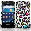 Hard Rubber Feel Design Case for Samsung Captivate Glide 4G - Colorful Leopard