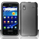 Hard Rubber Feel Design Case for Samsung Captivate Glide 4G - Carbon Fiber